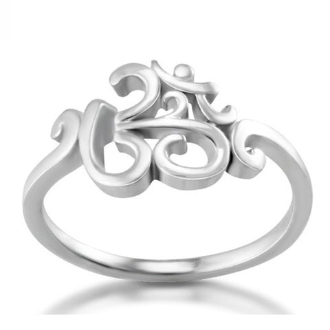 Charming 925 Sterling silver OM ring - CHAKRA HUB