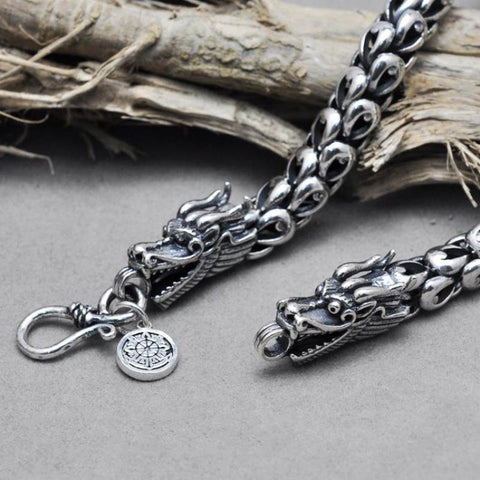 Silver Dragon Scales Necklaces Sweater Chain - CHAKRA HUB