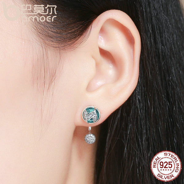 925 Sterling Silver Tree of Life Clear Stud Earrings: CHAKRA HUB
