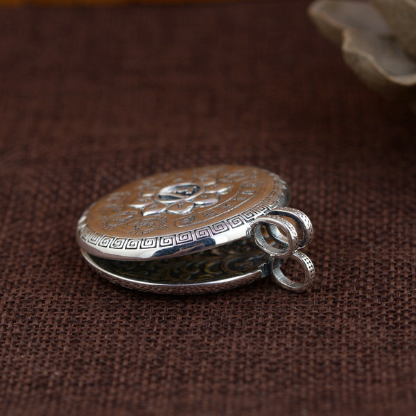 Silver Vintage Pendant Necklace Locket Prayer Box: CHAKRA HUB