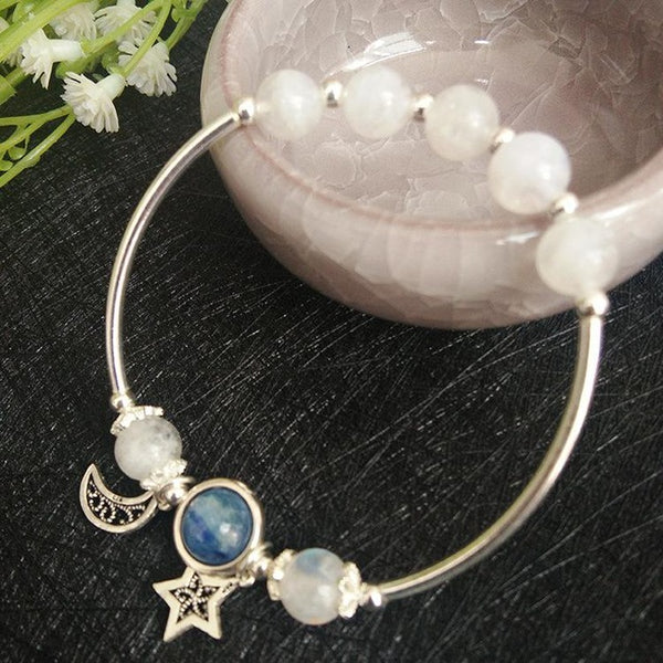 Natural Blue Moonstone Bracelets - CHAKRA HUB