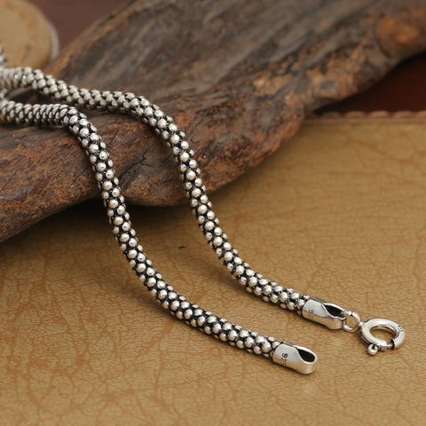 Sterling Silver Snake Chain Necklace for Pendants: CHAKRA HUB