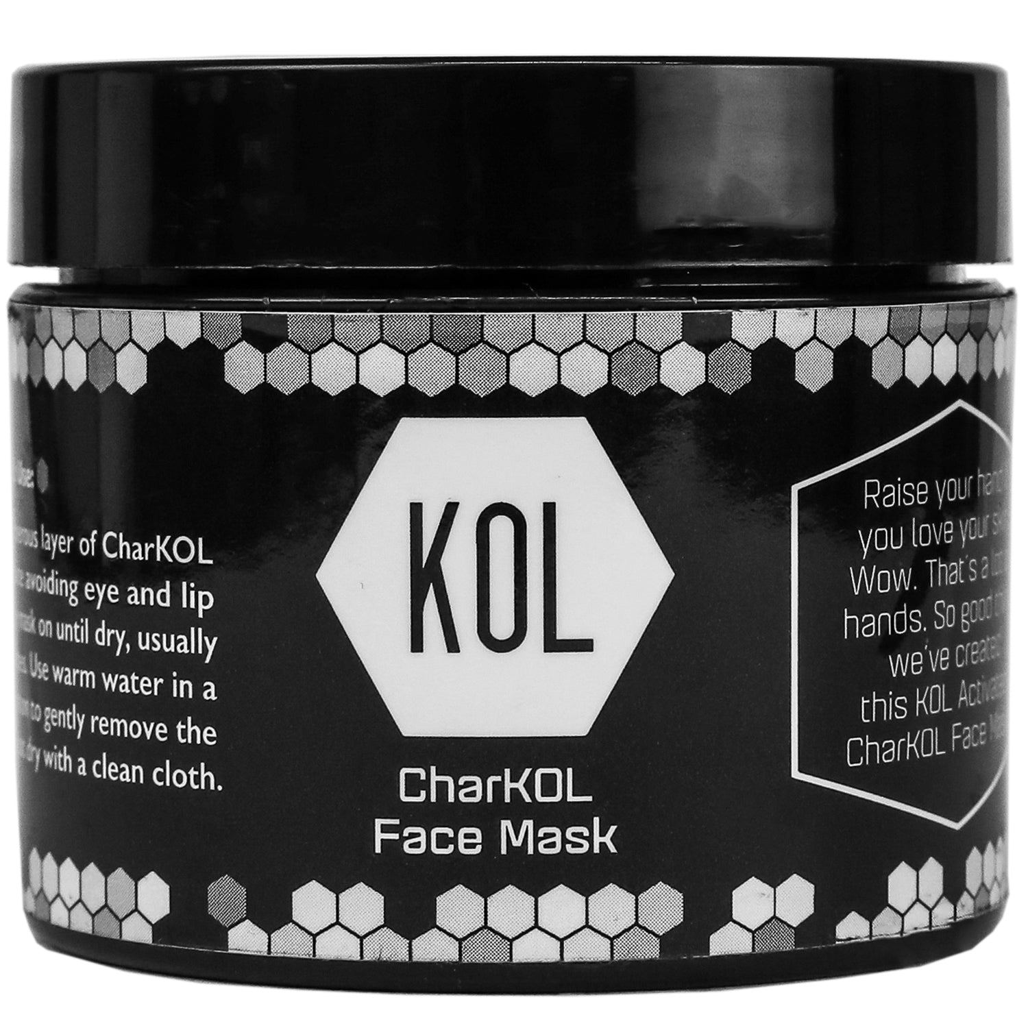 CharKOL Face Mask (2 oz) - KOL KARE | The #1 All Natural, Premium Charcoal Brand. Made in Miami.