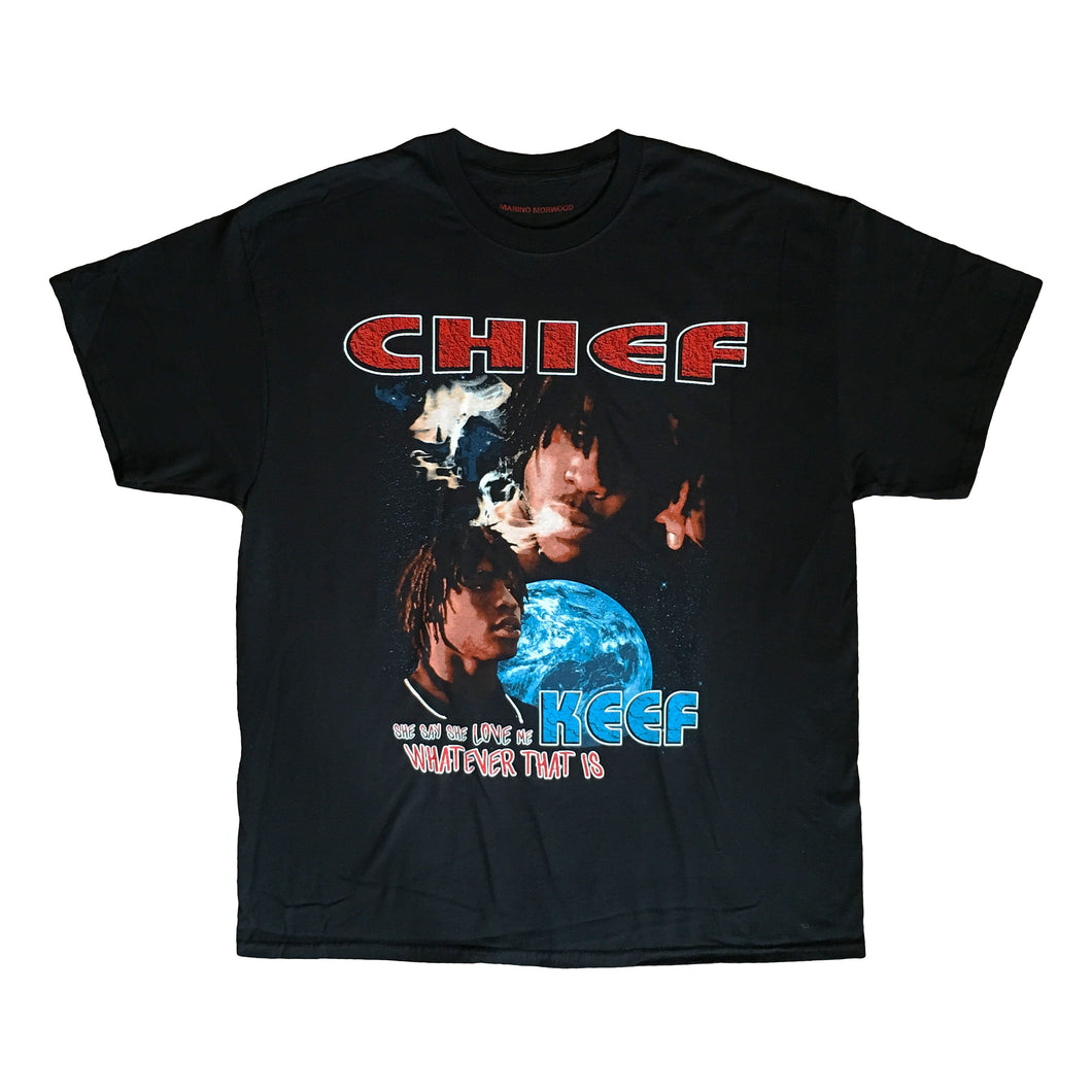 Marino Morwood Chief Keef Sosa She Say She Love Me Whatever That Is 90s Vintage Hip Hop / Rap Inspired T-Shirt Tee Merch Featuring Images From Chief Keefs Debut Album Finally Rich Released In 2012