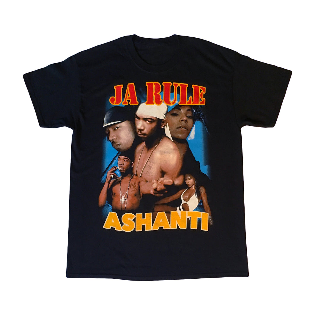 Marino Morwood Ja Rule & Ashanti Down 4 U 90s / Early 2000s Rap / Hip Hop / Rnb Vintage Inspired Merch T-Shirt Tee Featuring Featuring Lyrics From Ja Rule & Ashantis Hit Single Down 4 U From Irv Gotti Presents: The Inc. Album Released In 2001