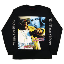 "Marino Morwood Lil Uzi Vert Vs. The World 90s Rap / Hip Hop Vintage Inspired Merch Longsleeve Featuring Lil Uzi Verts Inspiration Marilyn Manson Who Uzi Recently Had A Diamond Chain Made For By Ben Baller. With Lyrics ""I'll Be Rich By The Morning"" From No Sleep Leak On His New Album Luv Is Rage 2"