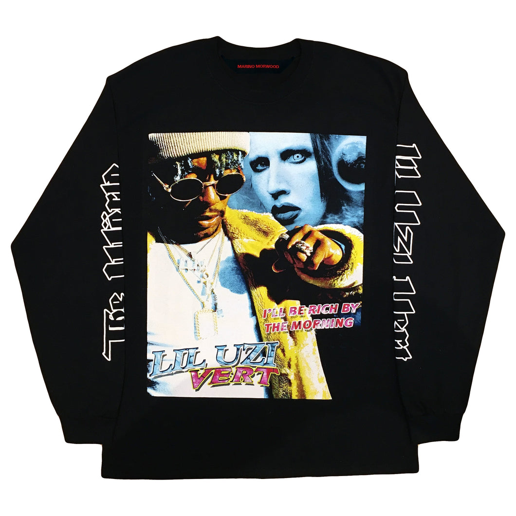 Marino Morwood Lil Uzi Vert Vs. The World 90s Rap / Hip Hop Vintage Inspired Merch Longsleeve Featuring Lil Uzi Verts Inspiration Marilyn Manson Who Uzi Recently Had A Diamond Chain Made For By Ben Baller. With Lyrics