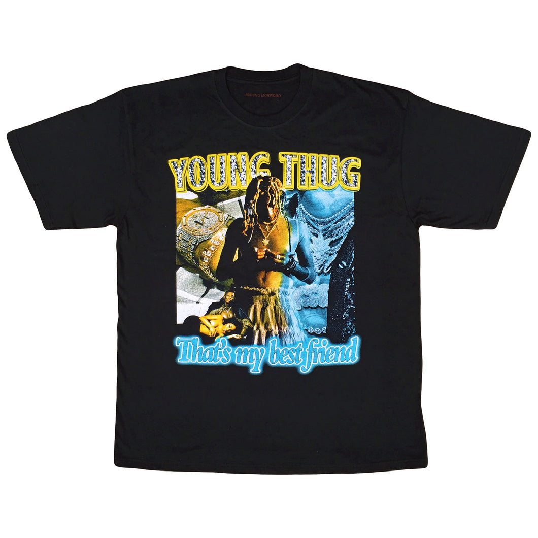 Marino Morwood Young Thug That's My Best Friend 90s Vintage Hip Hop / Rap Inspired T-Shirt Merch Featuring Lyrics From Young Thugs Biggest Hit