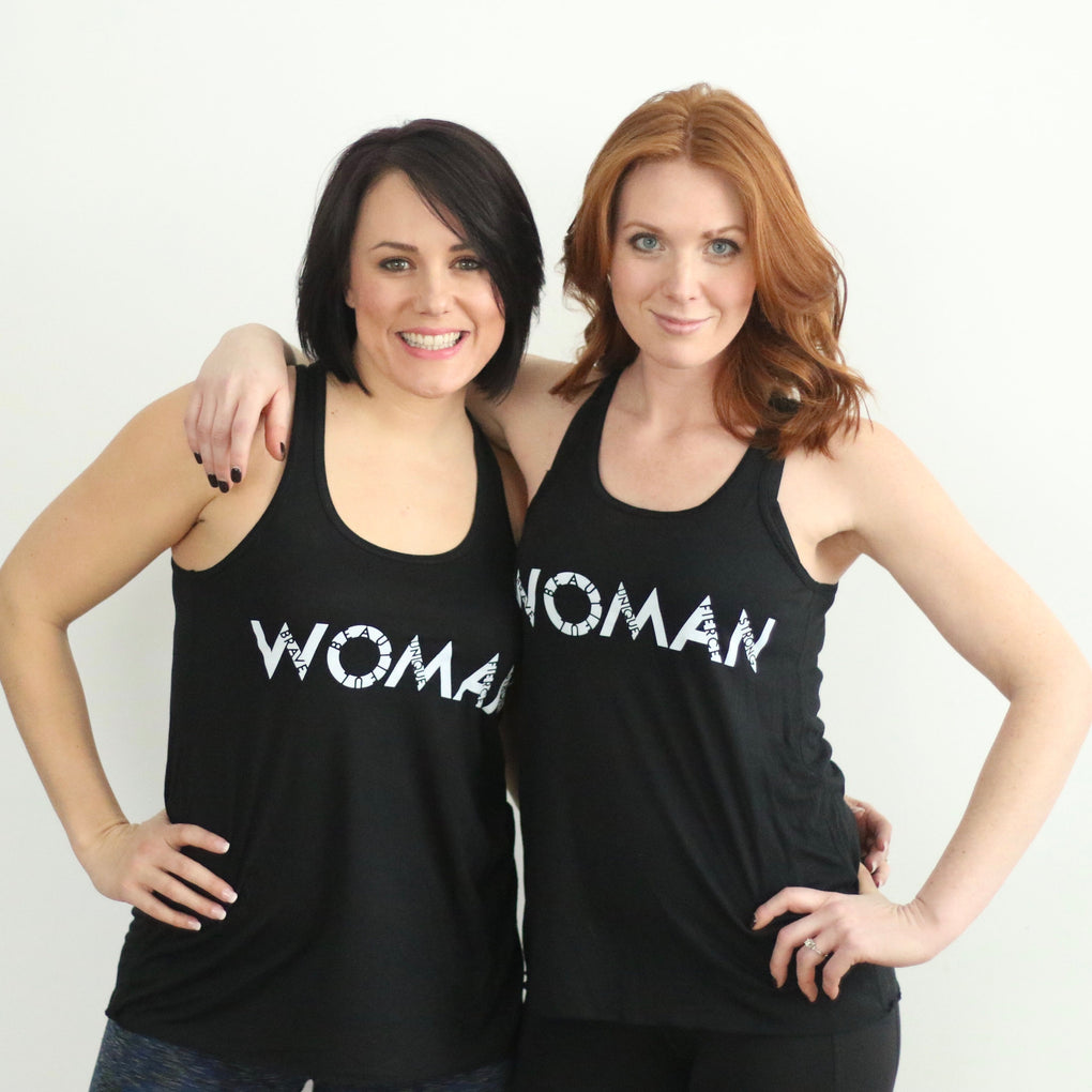 Black WOMAN Tank Top