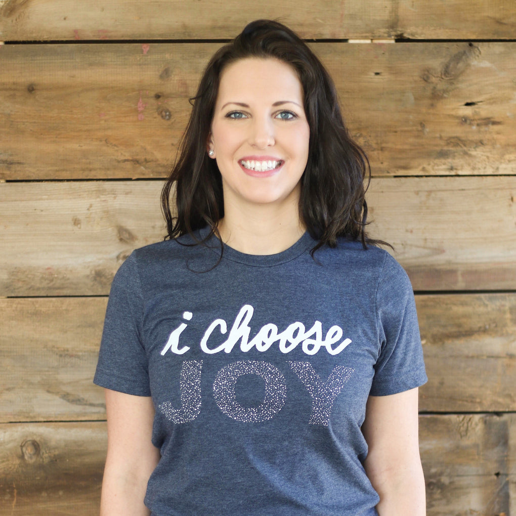 Navy I Choose Joy T-Shirt