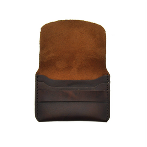 Leather Card Holder - Brown - LeatherLately