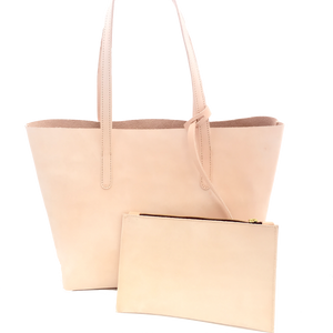 Natura Veg Tanned Leather Tote Bag