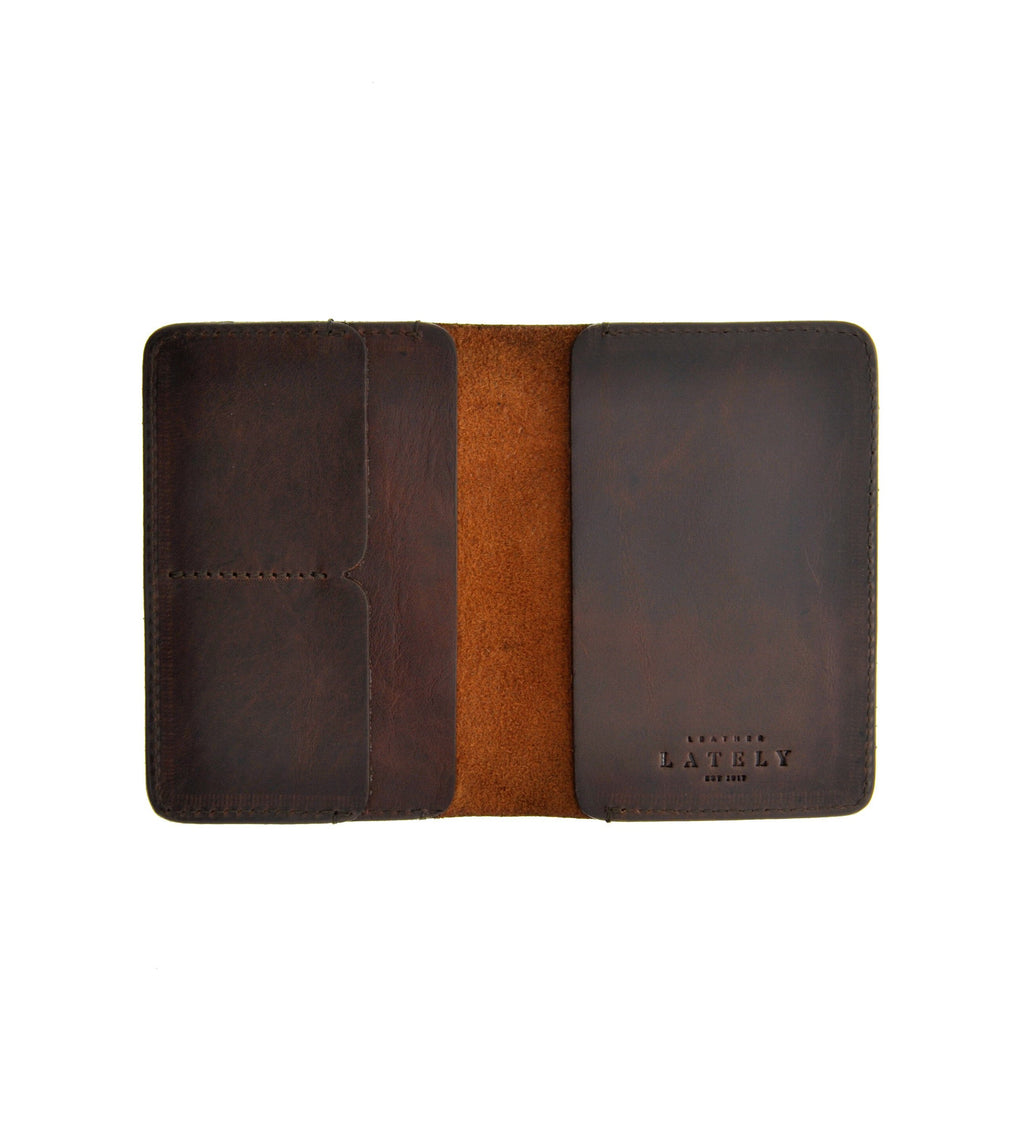 Leather Passport Holder - Brown - LeatherLately