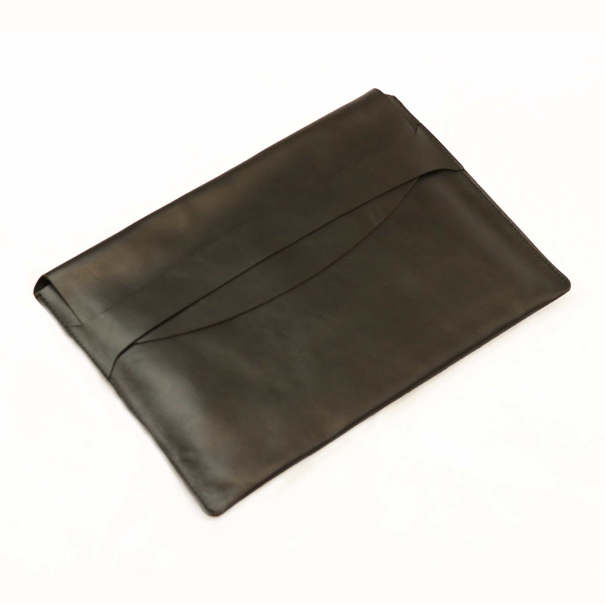 Leather Laptop Holder - Black - LeatherLately