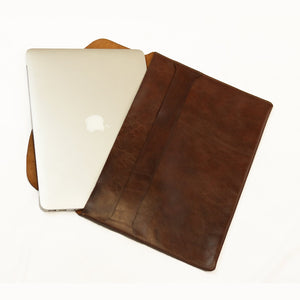 Leather Laptop Holder - Brown - LeatherLately