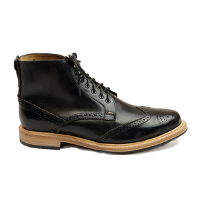 5261 Wing Tip Derby Boot - Black - LeatherLately