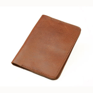 Leather Passport Holder - Tan - LeatherLately