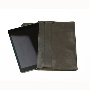 Leather iPad Holder - Black - LeatherLately