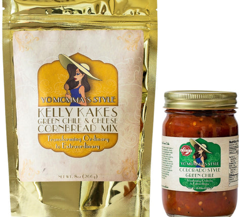 Hot Colorado Style Green Chile and Kelly Kakes Pack