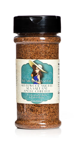 Yo Momma's Style Alderwood Smoked Sea Salt and Ancho Chile Rub 5.15oz