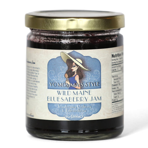 Yo Momma's Style Wild Maine Bluesaberry Jam 9 oz.