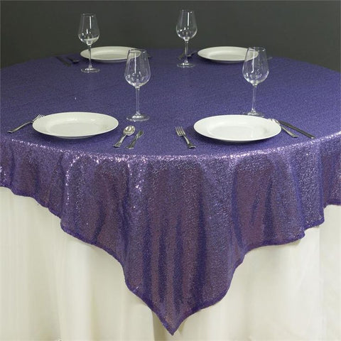Glitz Sequin and Square Satin Tablecloth