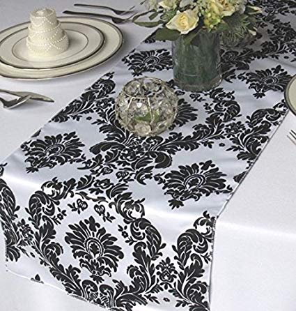 Taffeta Damask Table Runner