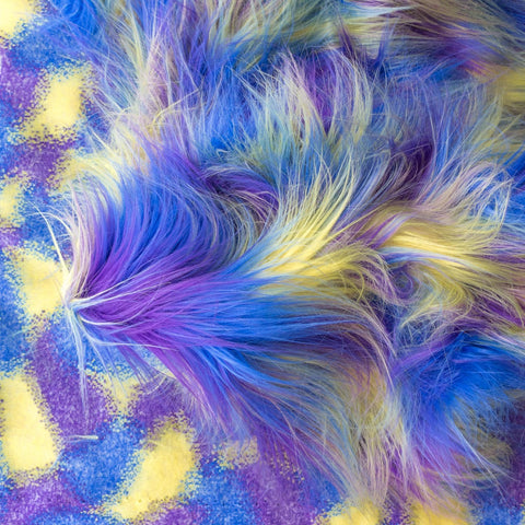 Faux Fake Fur Versicolor Jumble Long Pile Fabric