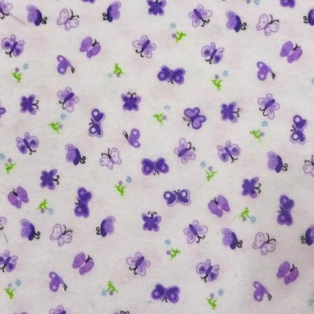 Butterfly Print Flannel Fabric