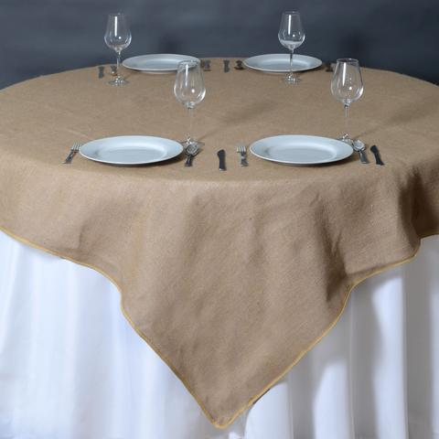 Square Burlap Tablecloth