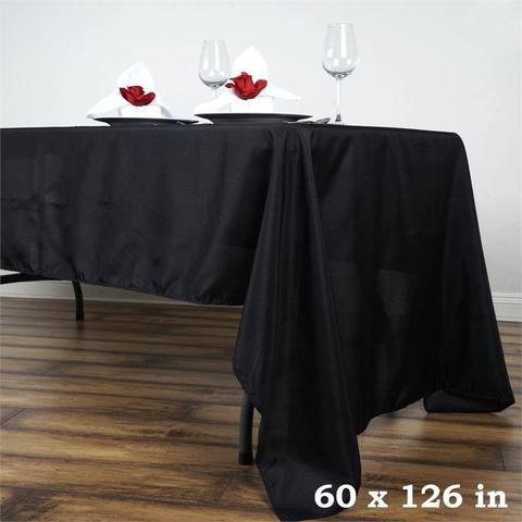 "60"" x 126"" Polyester Rectangle Tablecloth"