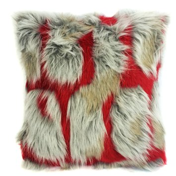 Faux Fake Fur Brick Rectangle Long Pile Fur