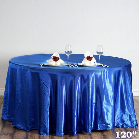 "120"" Satin Round Tablecloth"
