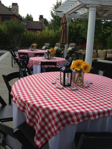 Square Checkered Tablecloth
