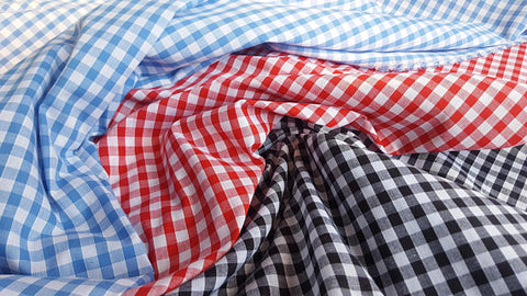 Gingham Checkered Polyester Fabric