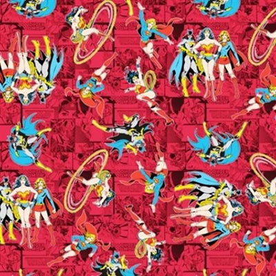 Wonder Woman 100% Cotton Fabric