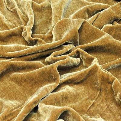 Cognac Silk Velvet Fabric