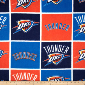 NBA Oklahoma City Thunder Block Fleece Fabric