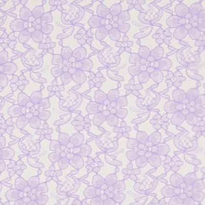 Lilac Floral Raschel Lace Fabric