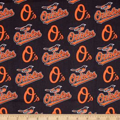 MLB Broadcloth Baltimore Orioles  100% Cotton Fabric