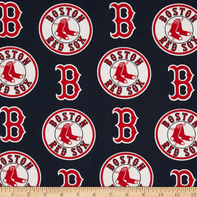 MLB Broadcloth Boston Red Sox 100% Cotton Fabric
