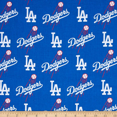 MLB Broadcloth Los Angeles Dodgers 100% Cotton Fabric