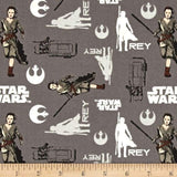 Star Wars The Force Awakens Rey Iron 100% Cotton Fabric
