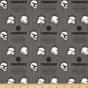 Star Wars The Force Awakens Storm Trooper Iron 100% Cotton Fabric