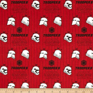 Star Wars The Force Awakens Storm Trooper Ruby 100% Cotton Fabric