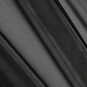 "Black Sheer Voile Fabric 118"" Wide"