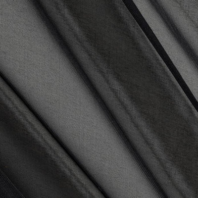 Black Sheer Voile Fabric 118