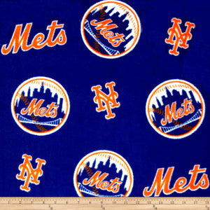 MLB New York Mets Fleece Fabric