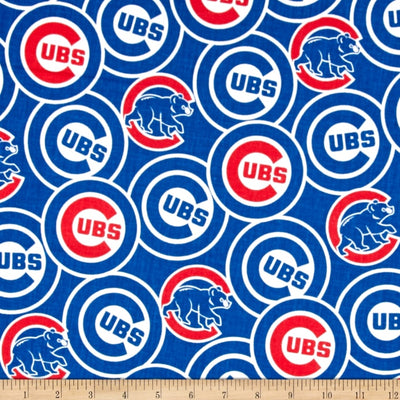 MLB Chicago Cubs Broadcloth Blue 100% Cotton Fabric
