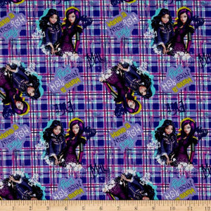 Disney Descendants Have a Nice Ish Day 100% Cotton Fabric